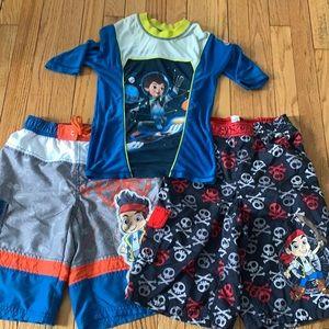 Boy's Disney swim lot 7/8